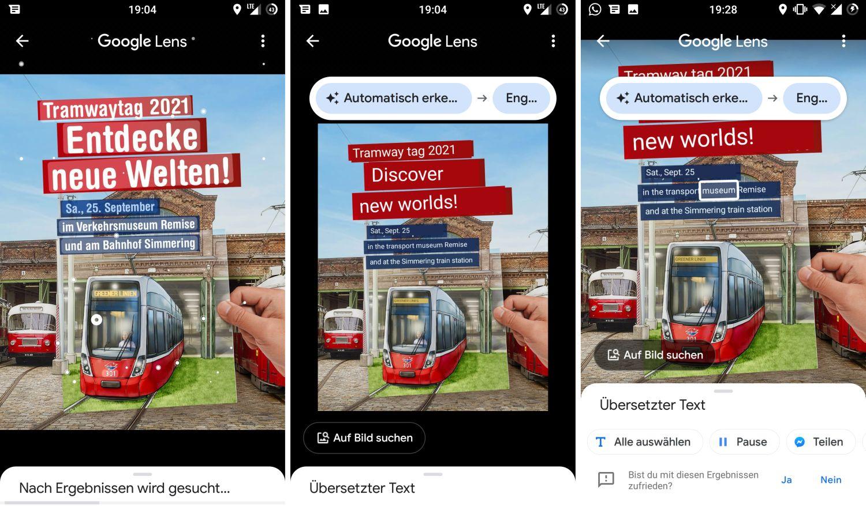 Google Lens Text übersetzen