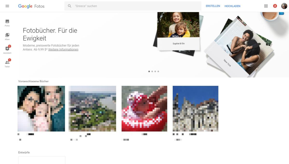 Google Photos Fotobücher