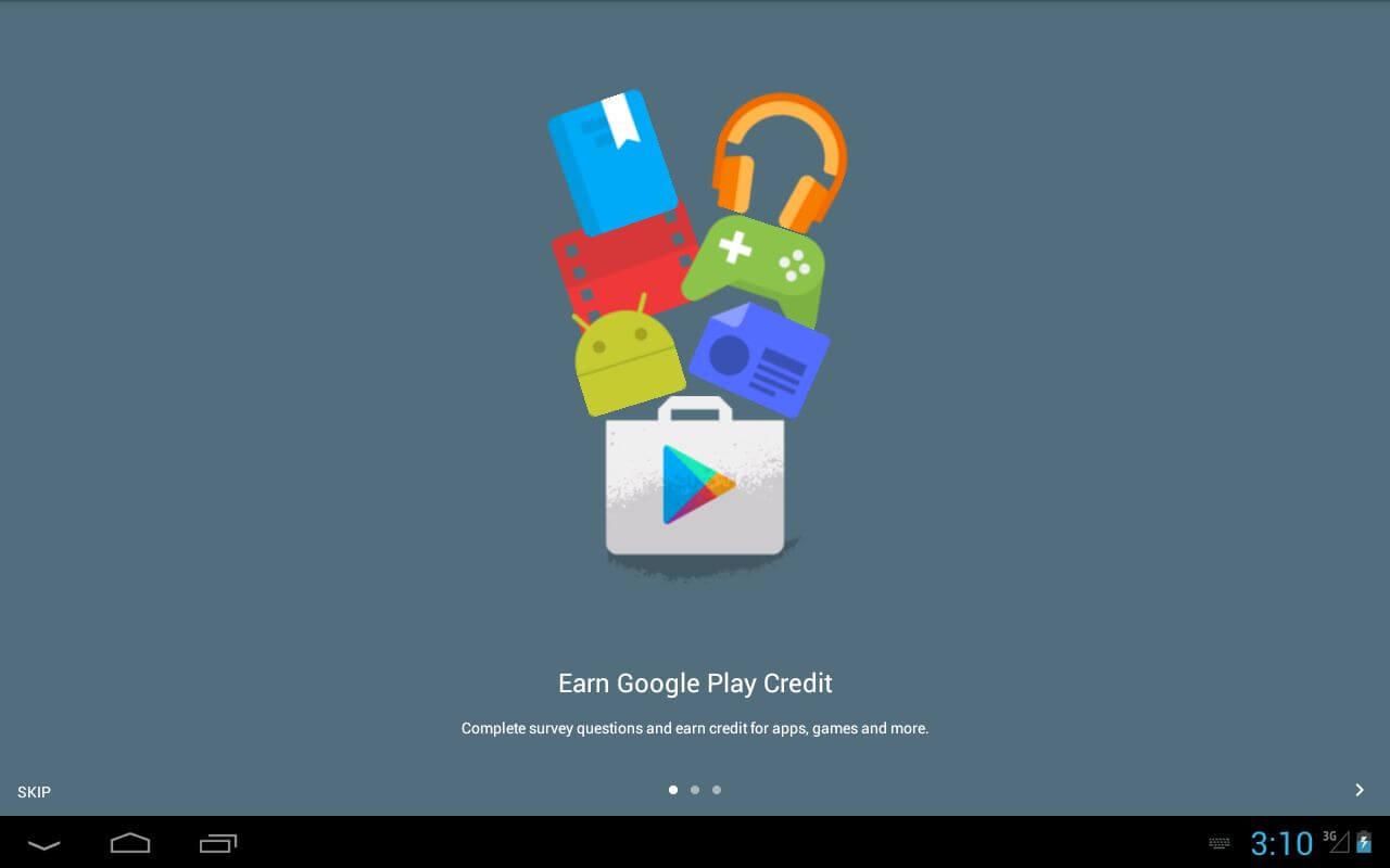 Google Play Credit Opinion Rewards