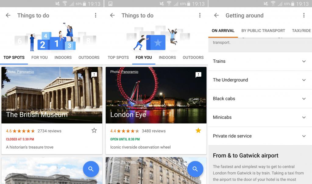 Google Trips Detail