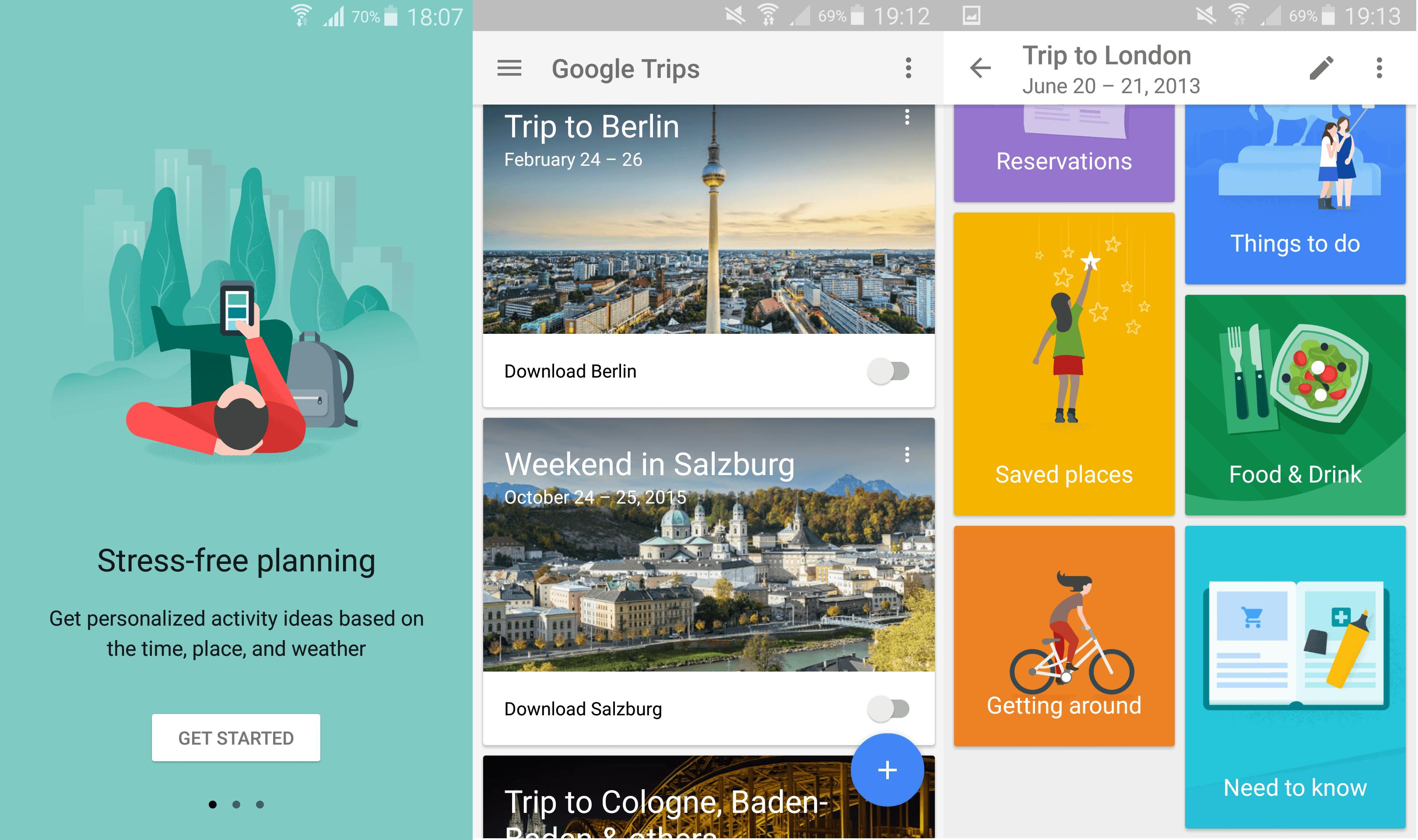 Google Trips Start