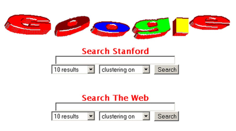 Google logo in 1997