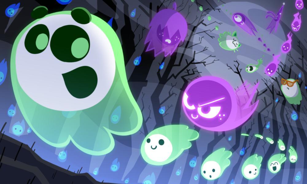 Halloween Doodle Geister