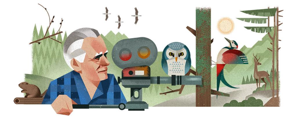 Heinz Sielmann 101. Geburtstag Googe-Doodle