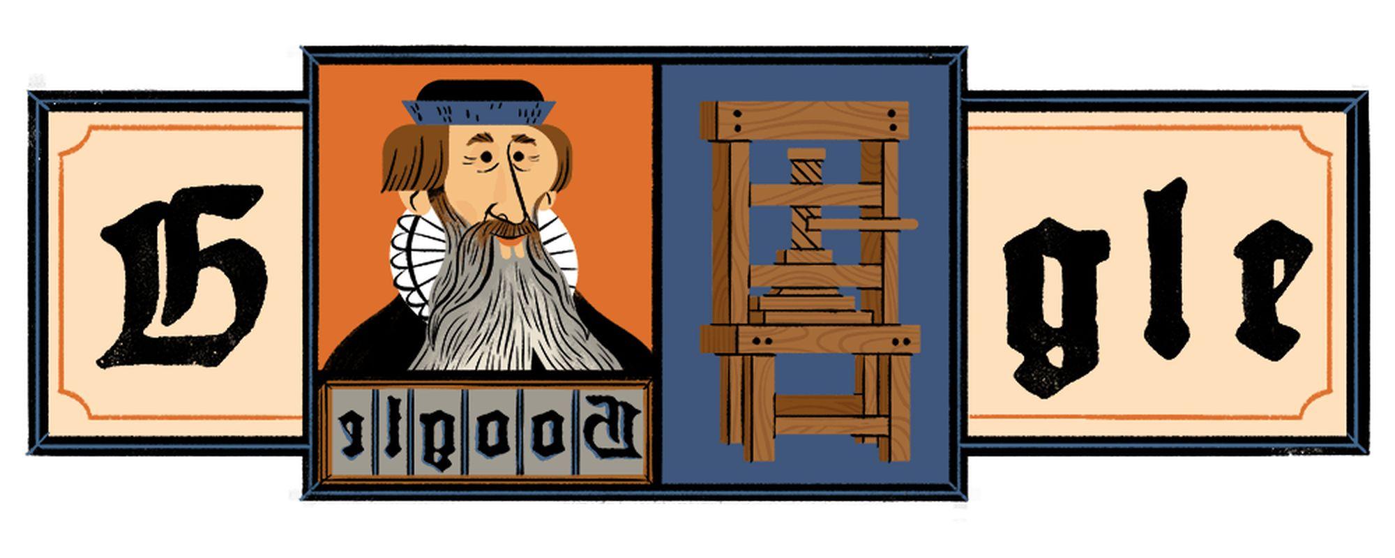 Johannes Gutenberg Google Doodle ehrt den Erfinder des modernen ...
