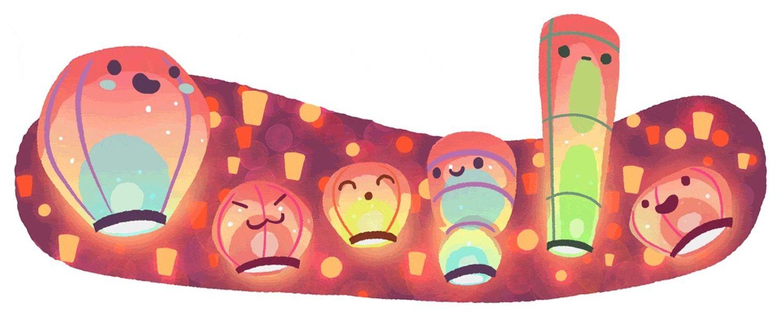 Laternenfest Google-Doodle