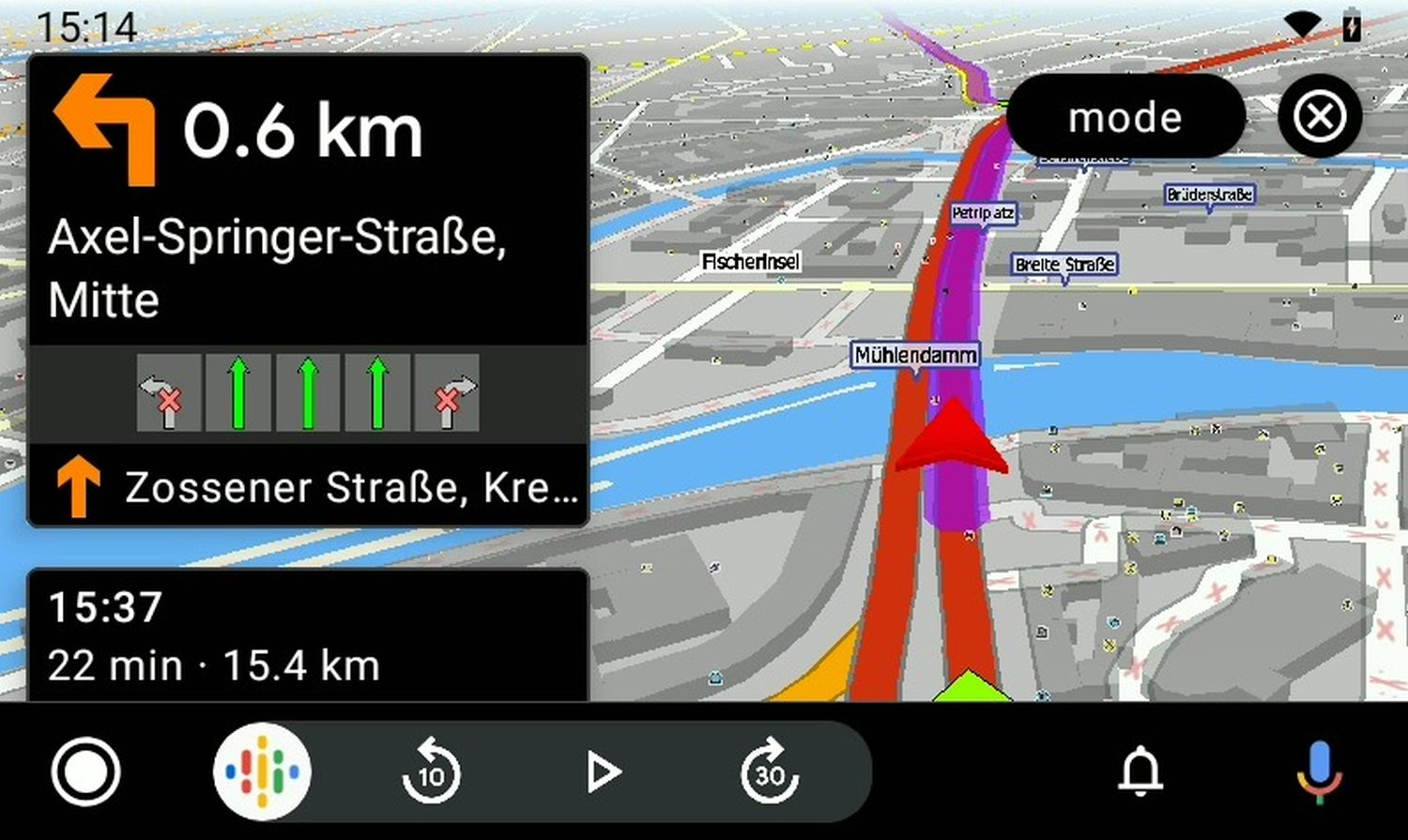 MapFactor Navigator 7 with Android Auto_3D_navigation_Berlin