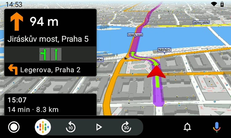 MapFactor Navigator 7 with Android Auto_3D_navigation_prague