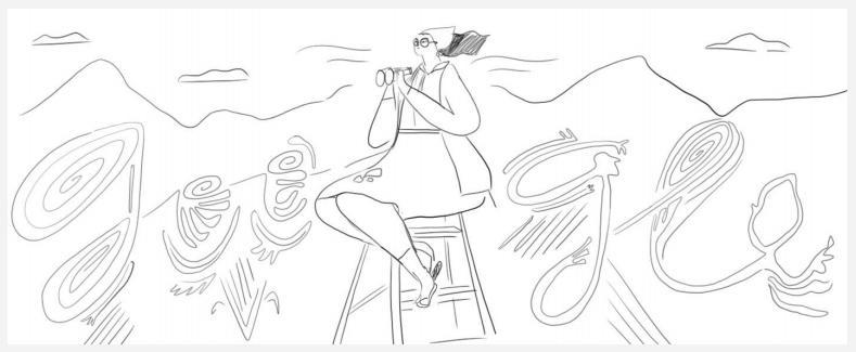 Maria Reiche Doodle Entwurf 2