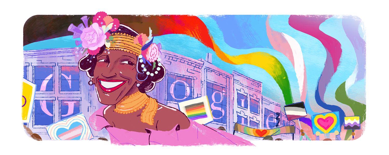 Marsha P John Google Doodle LGBT