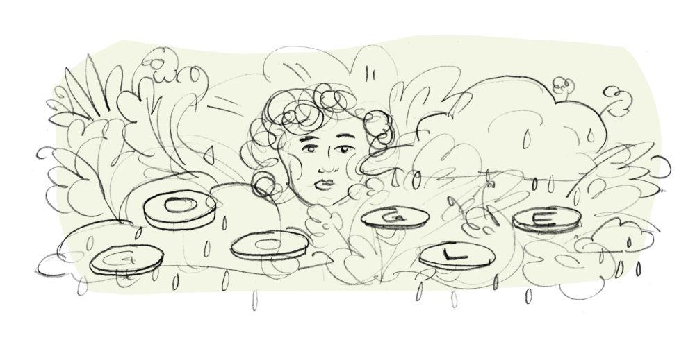 Mascha Kaleko Google Doodle Entwurf 1