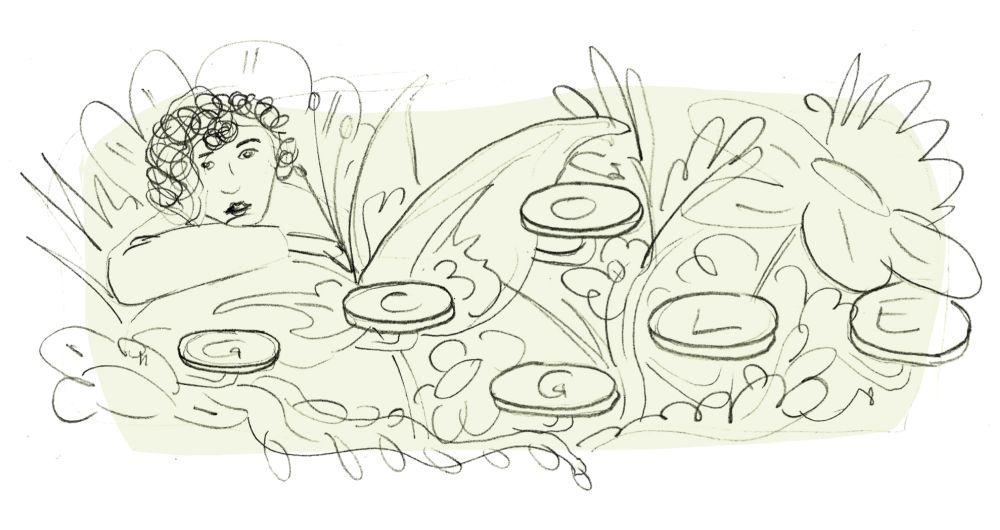 Mascha Kaleko Google Doodle Entwurf 2
