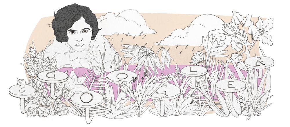 Mascha Kaleko Google Doodle Entwurf 3