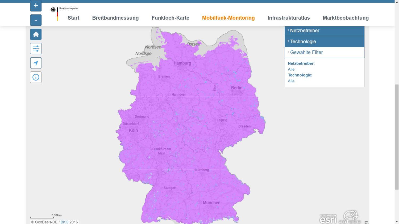 Mobilfunk Abdeckung Deutschland