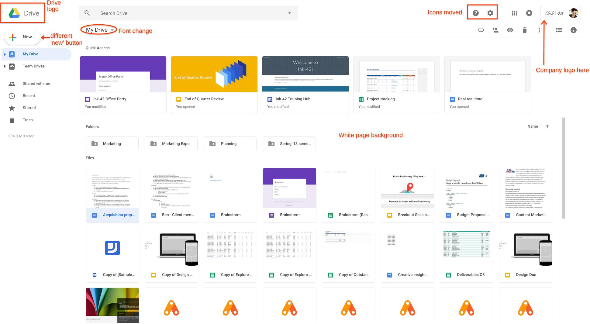 Google Drive Redesign Änderungen