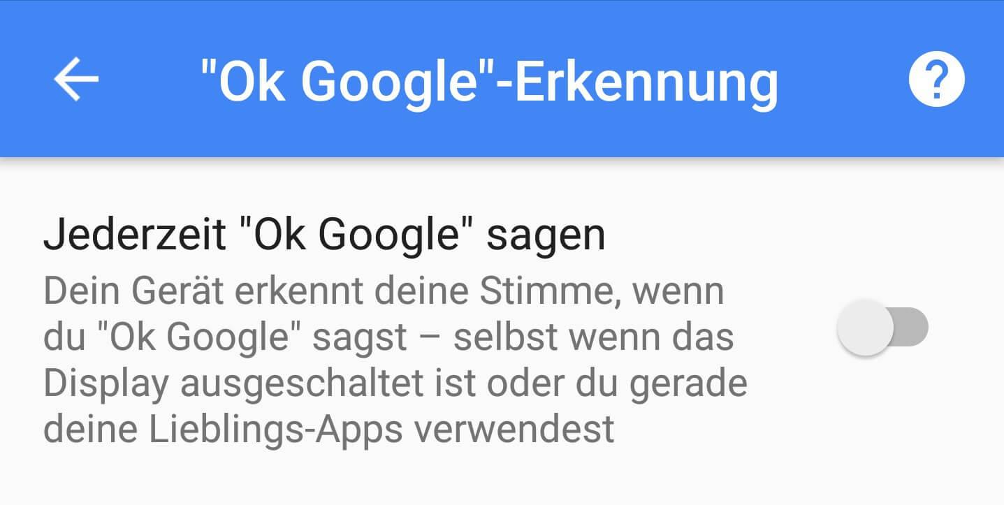 Ok-Google-Erkennung