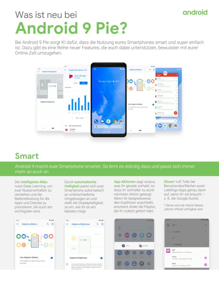 One Pager - Was ist neu bei Android 9 Pie-1