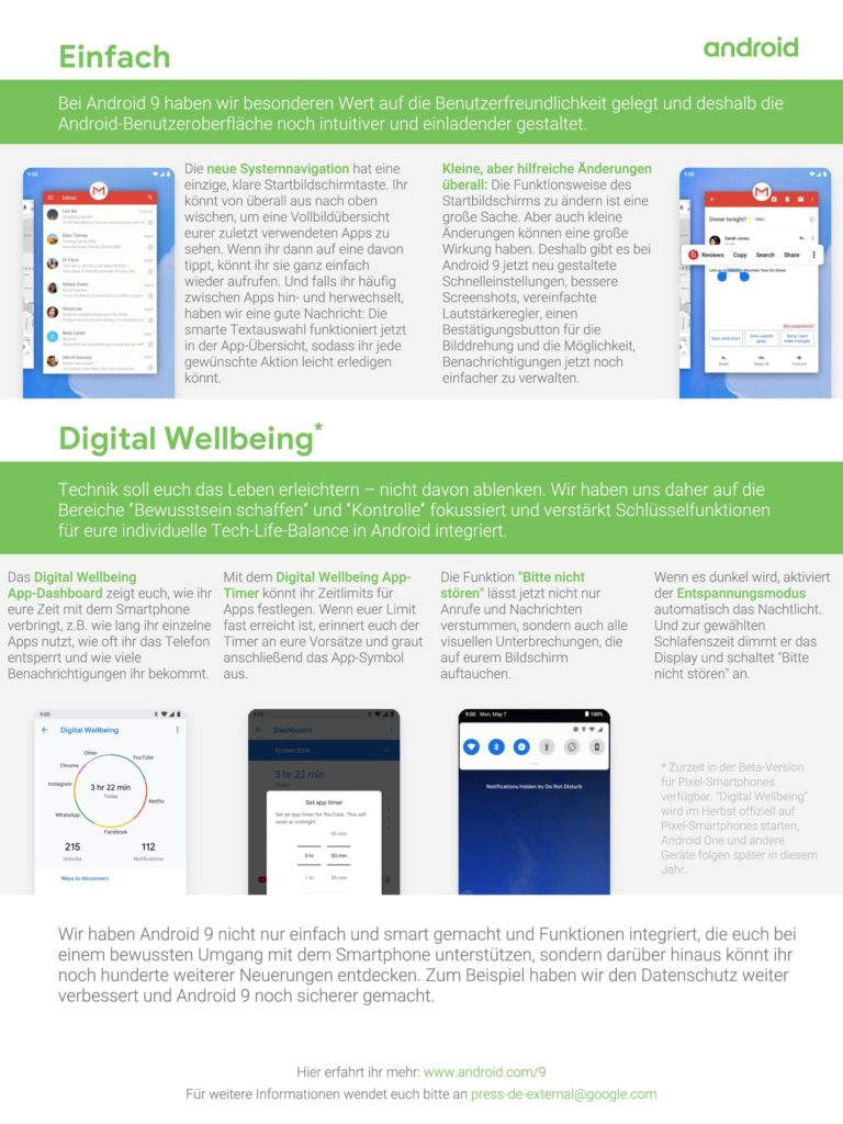 One Pager - Was ist neu bei Android 9 Pie-2