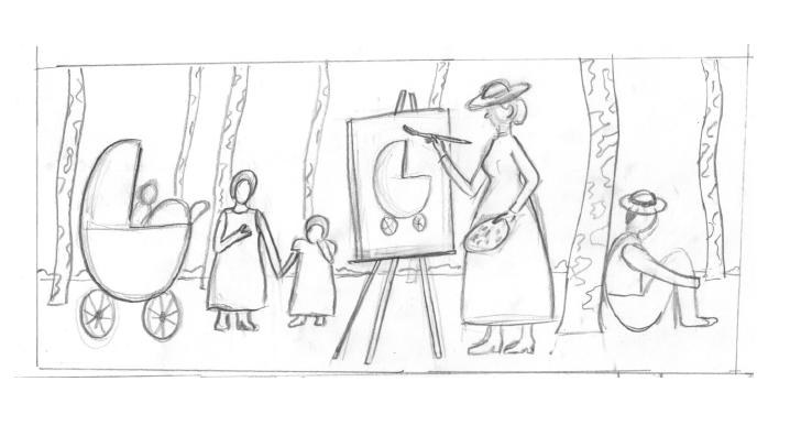 Paula Modersohn-Becker Doodle Entwurf 1