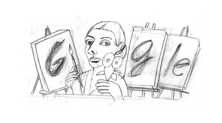 Paula Modersohn-Becker Doodle Entwurf 2