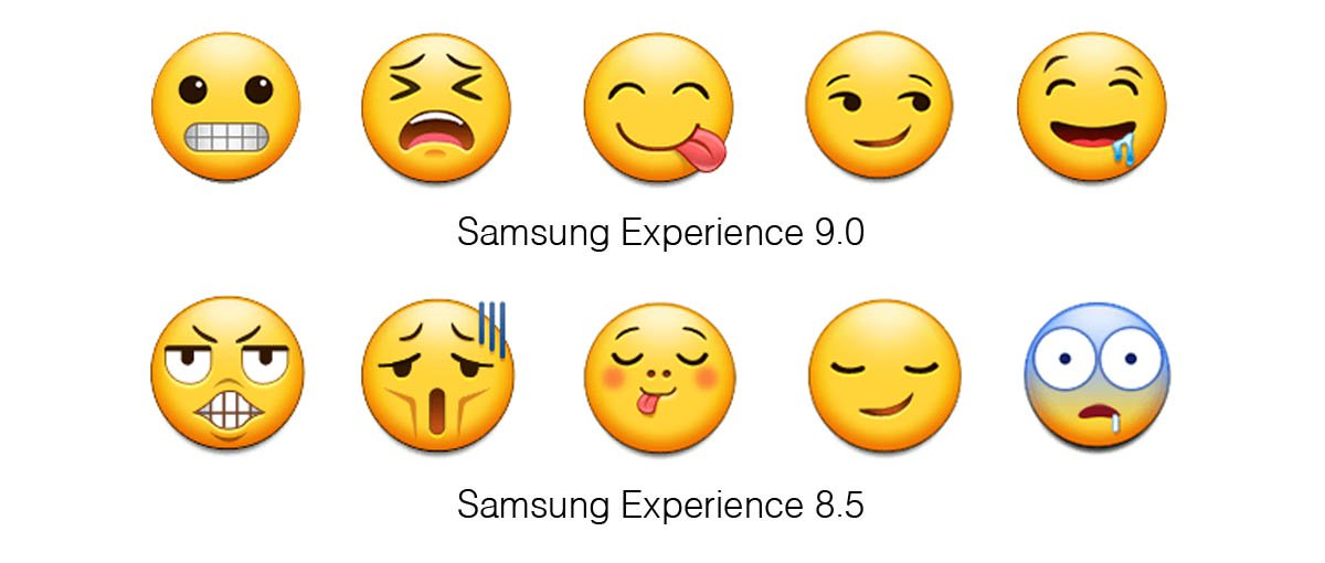 Samsung-Experience-9-0-Emojipedia-Comparison-Grimace-Weary-Savouring-Smirk-Drool