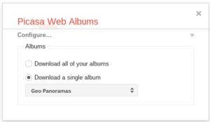 Google Takeout einzelnes Album Exportieren