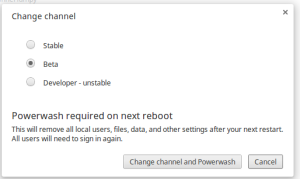 Chrome OS 30 Switch Channel