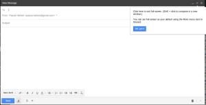 Gmail Editor Vollbild