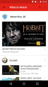 YouTube 6.0 Startseite