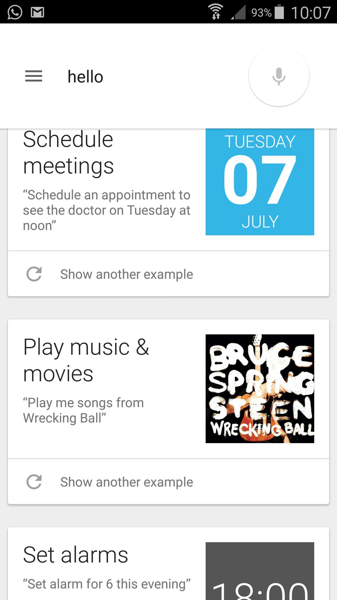 OK, Google Beispiele