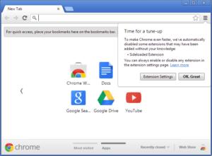Google Chrome deaktivierte Erweiterung