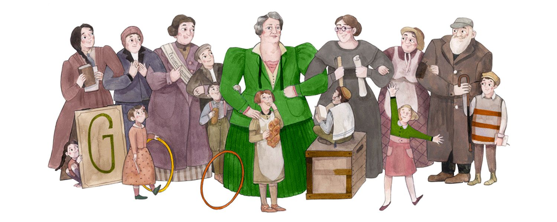 Sidonie Werner Google-Doodle 161 Geburtstag