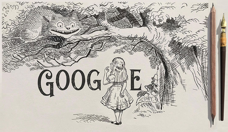 Sir John Tenniel 200 Geburtstag Google Doodle Alice im Wunderland