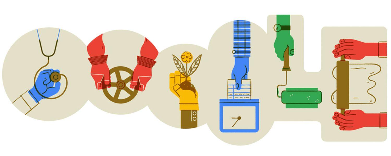 Tag der Arbeit Maifeiertag 2020 Google Doodle