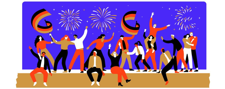 Tag der Deutschen Einheit 2019 Google Doodle