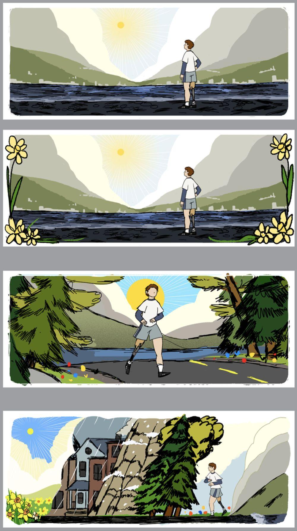 Terry Fox Google Doodle Entwürfe