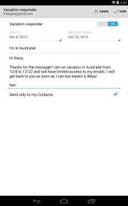 Automatische Antworten Gmail auf Android