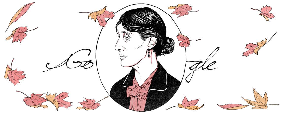 Virginia Woolf 136 Geburtstag Google Doodle