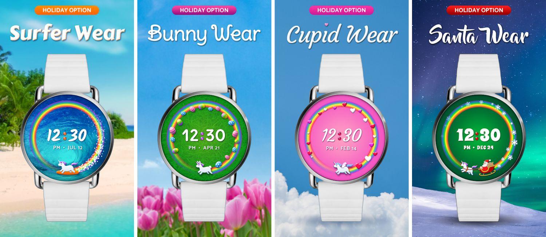 Wear OS Watch Face Unicorn Themes