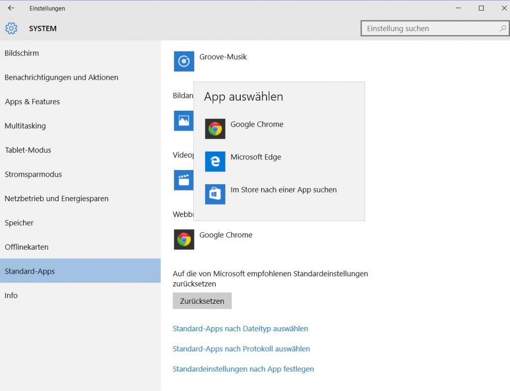 Windows 10 Standard browser
