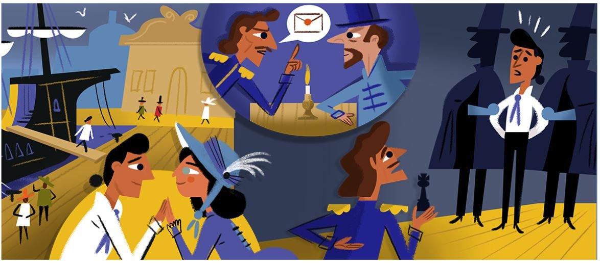 alexandre dumas google doodle 2