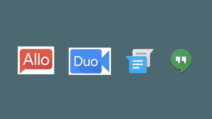 allo duo hangouts messenger