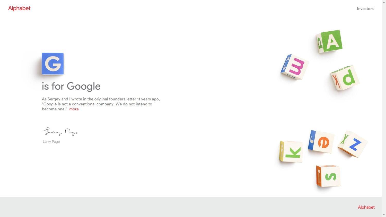 alphabet website