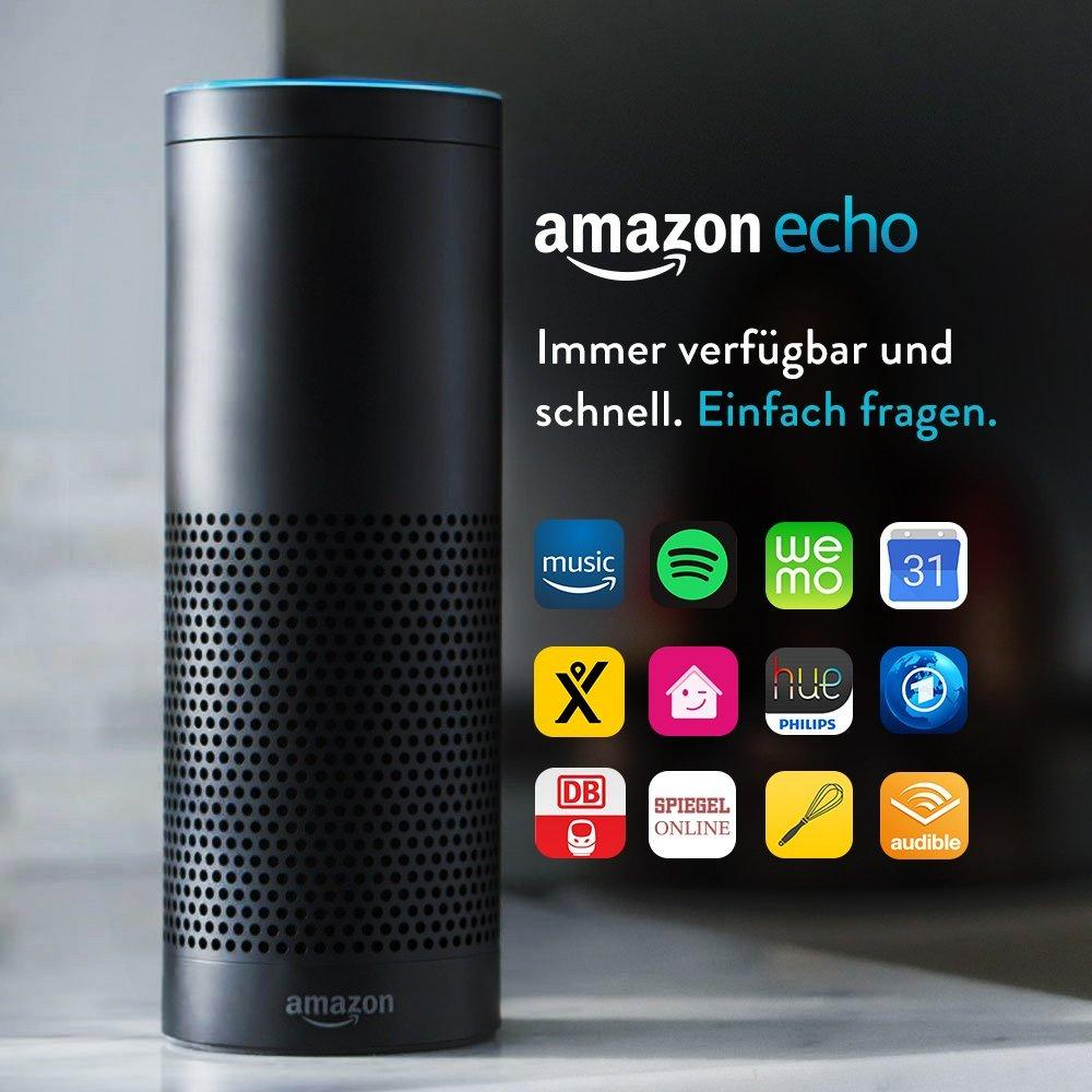 aktion bei amazon echo f r 64 99 euro statt 179 99 euro. Black Bedroom Furniture Sets. Home Design Ideas