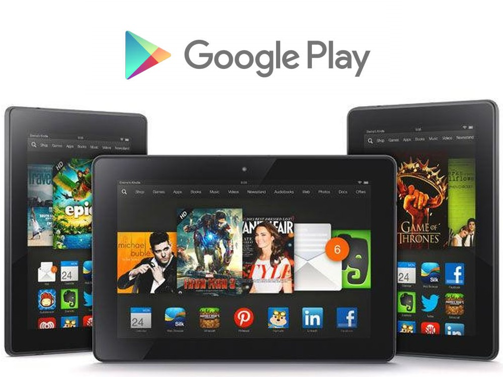 amazon fire google play
