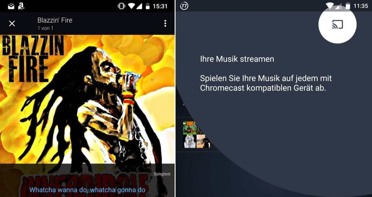 amazon music chromecast