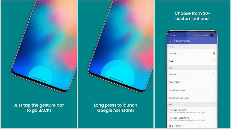 android 10 gestureplus