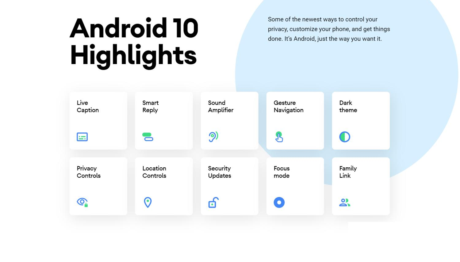android 10 new features