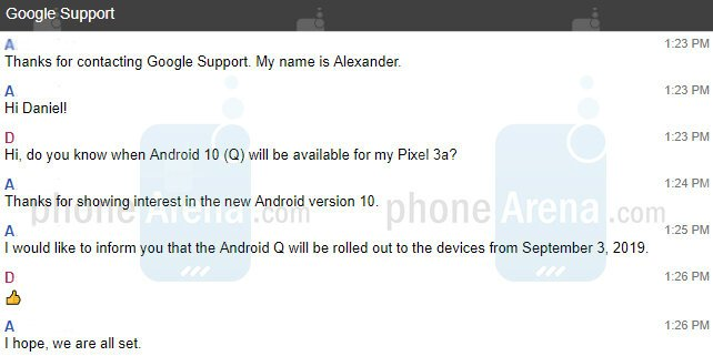 android 10 q september