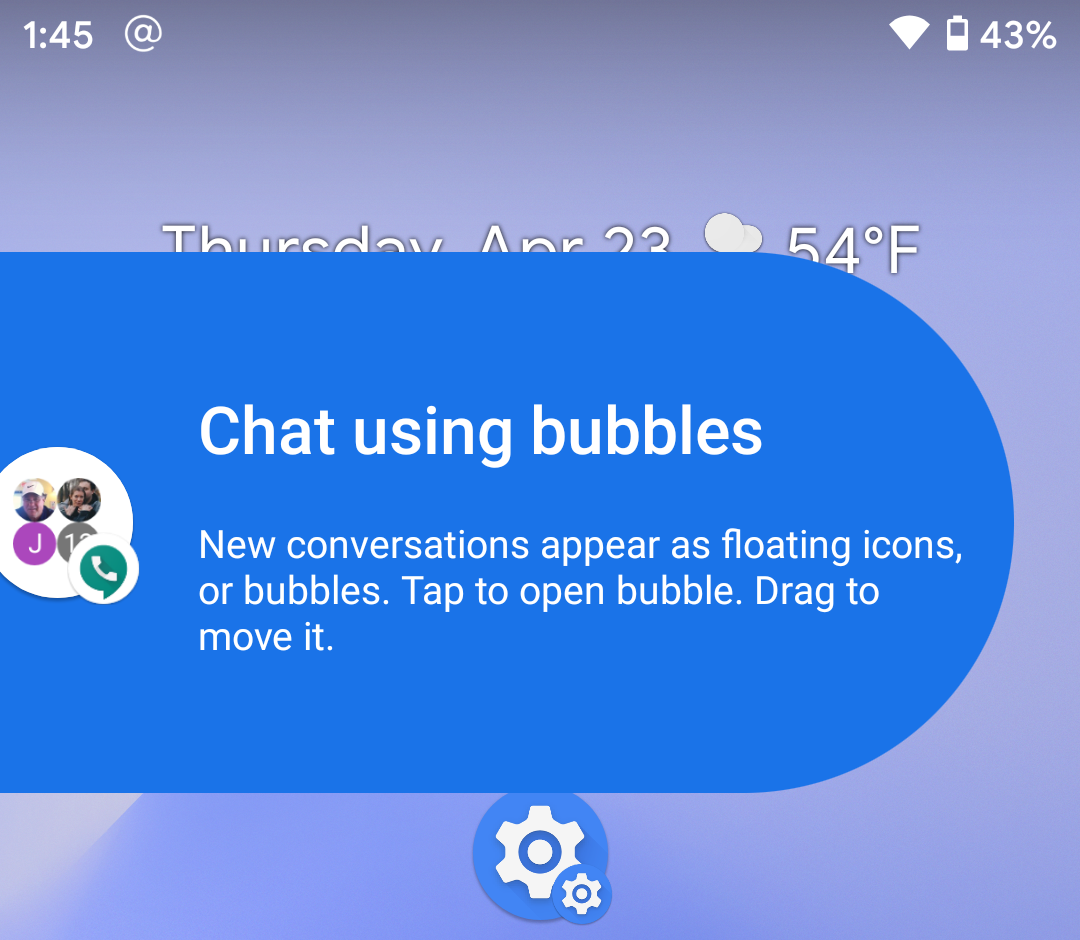android 11 chat bubbles notification